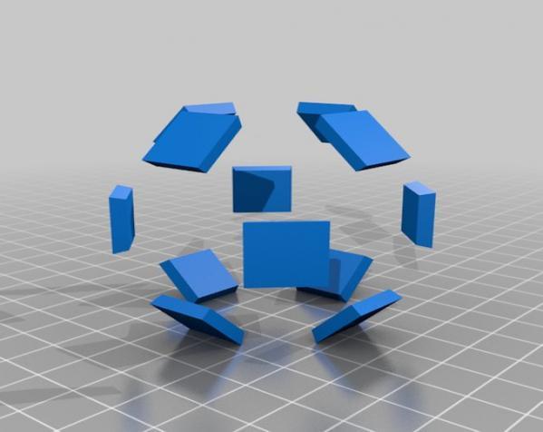 三色阿基米得多面体 3D模型  图5