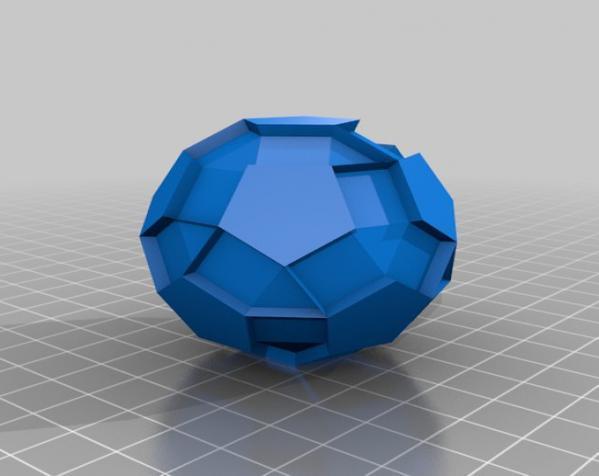 三色阿基米得多面体 3D模型  图8