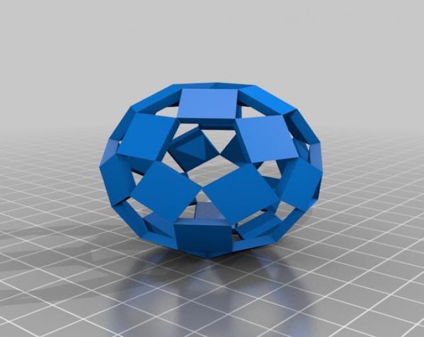 三色阿基米得多面体 3D模型  图9