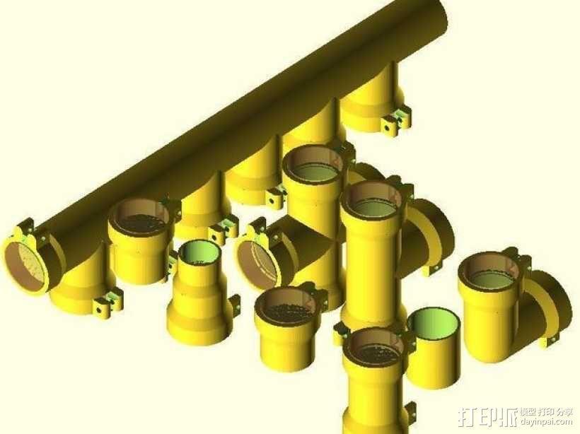 圆管配件 3D模型  图1