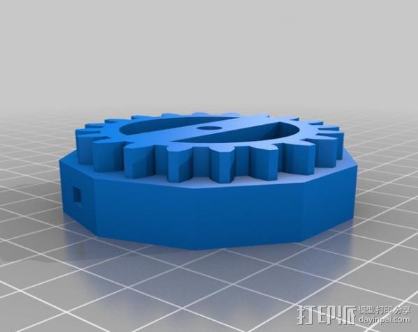 三位数机电计数器 3D模型  图2