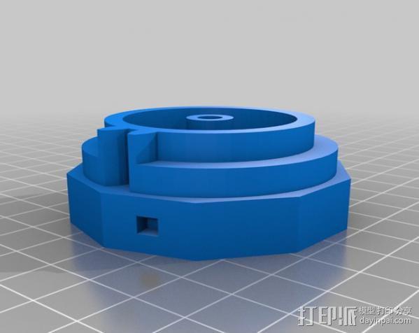 三位数机电计数器 3D模型  图3
