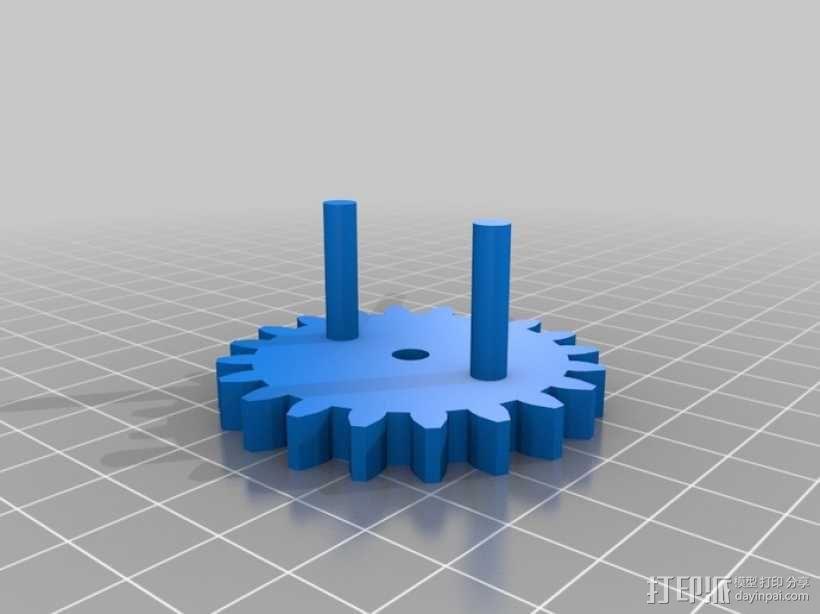 三位数机电计数器 3D模型  图4