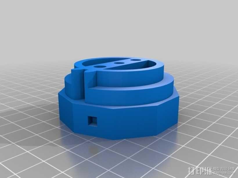 三位数机电计数器 3D模型  图5
