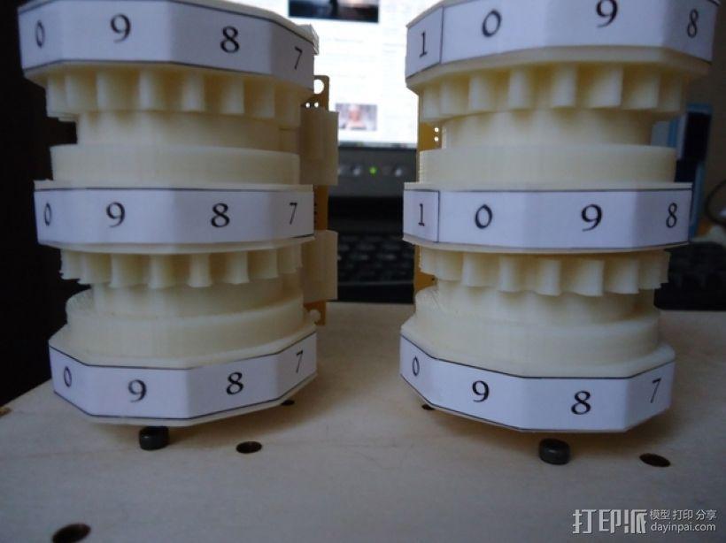 三位数机电计数器 3D模型  图7