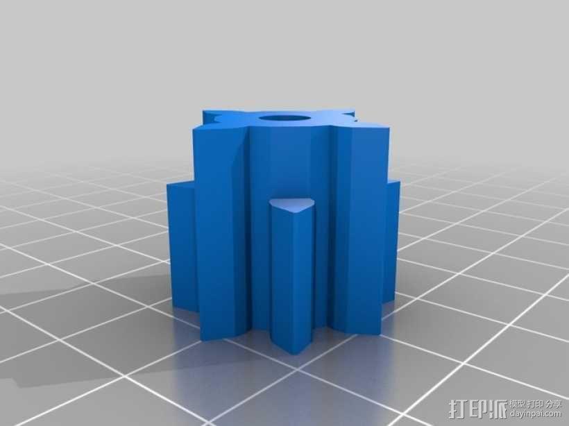 三位数机电计数器 3D模型  图6