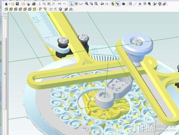 谐波变压器 3D模型  图3