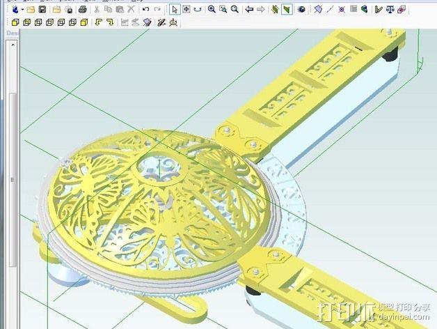 谐波变压器 3D模型  图4