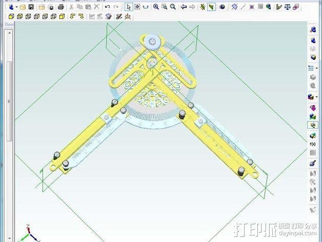 谐波变压器 3D模型  图2
