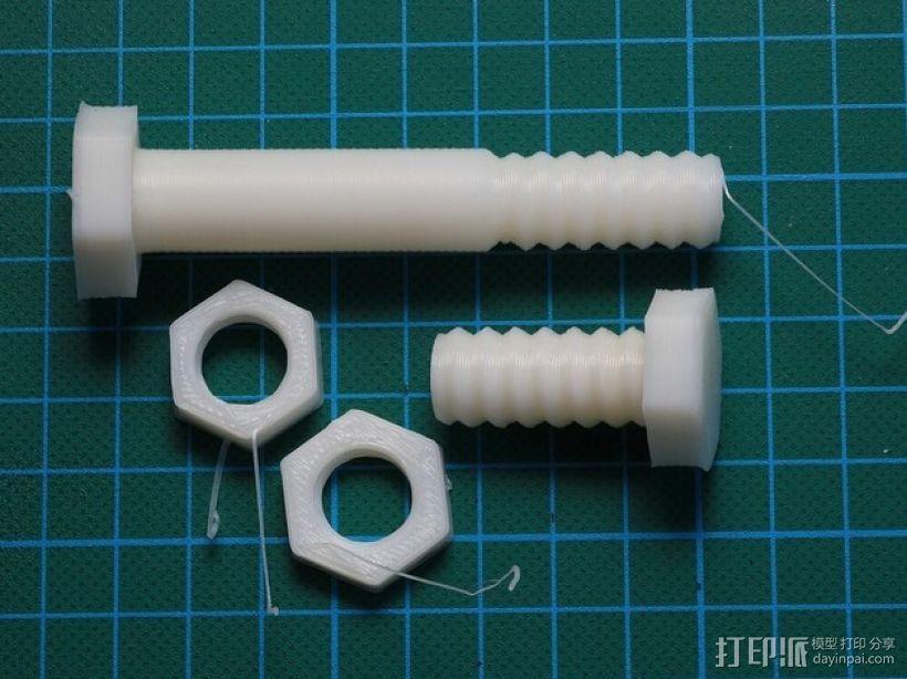 螺母 螺丝 3D模型  图1