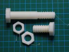 螺母 螺丝 3D模型