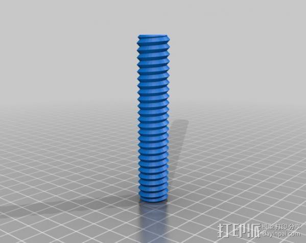 螺母 螺丝 3D模型  图2