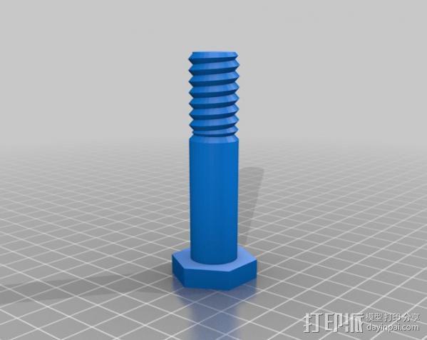 螺母 螺丝 3D模型  图3