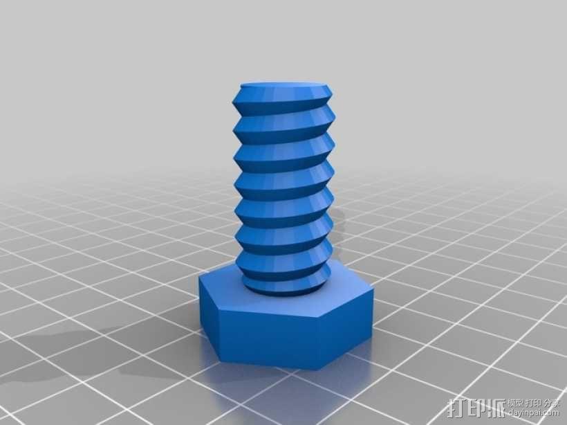 螺母 螺丝 3D模型  图6
