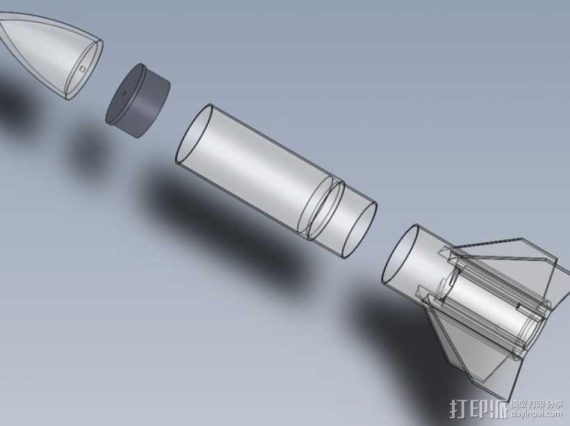 模块化火箭 3D模型  图1