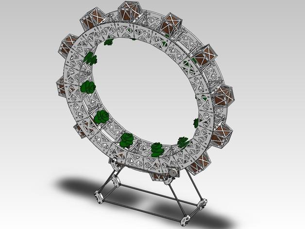 扶轮水培装置 3D模型  图2
