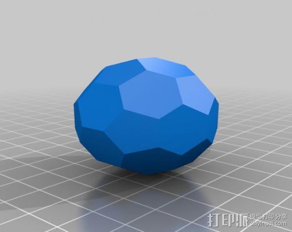 二十面体巴克球 3D模型  图3