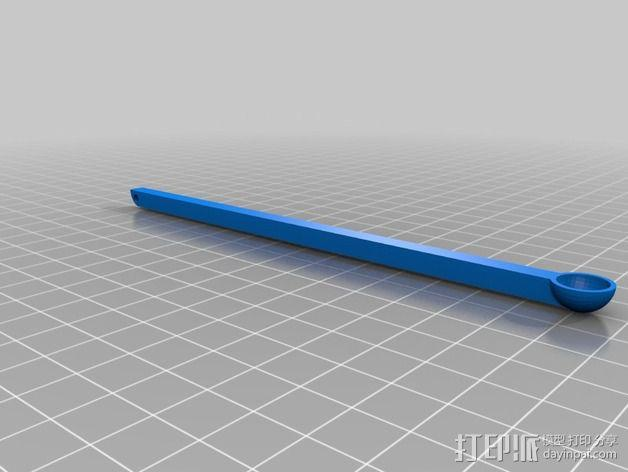 达芬奇 弹射器 3D模型  图2