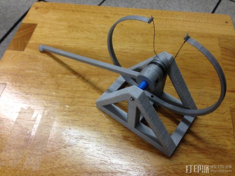 达芬奇 弹射器 3D模型  图1