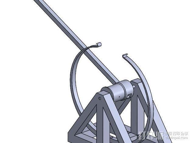 达芬奇 弹射器 3D模型  图4