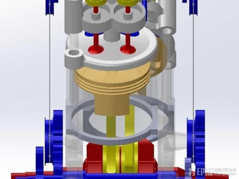 运动摩托车引擎 3D模型  图5