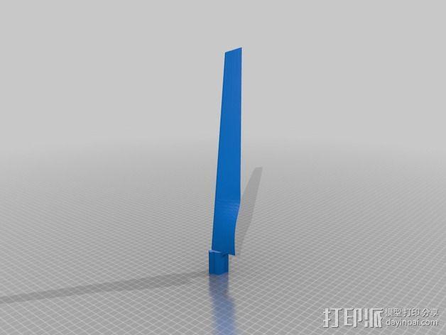 小风车 3D模型  图2
