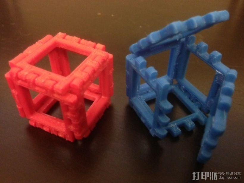 正方体 3D模型  图1