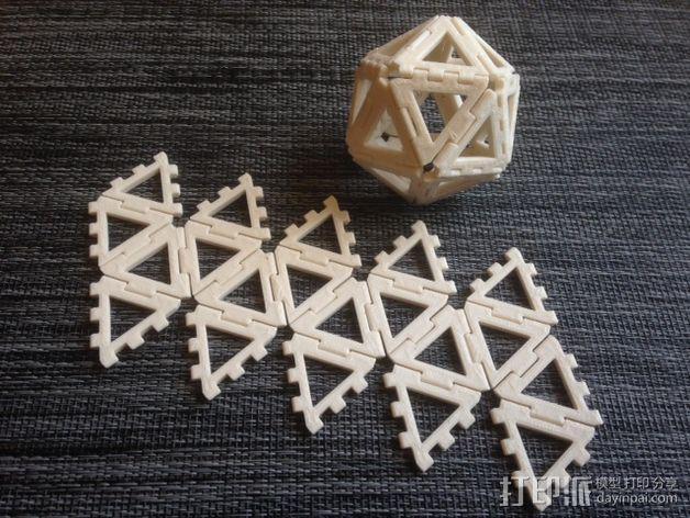 二十面体 3D模型  图1