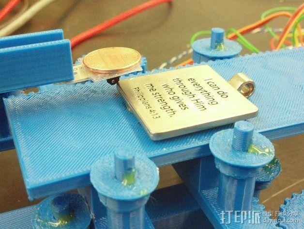 打印机XYZ轴打印床 3D模型  图3