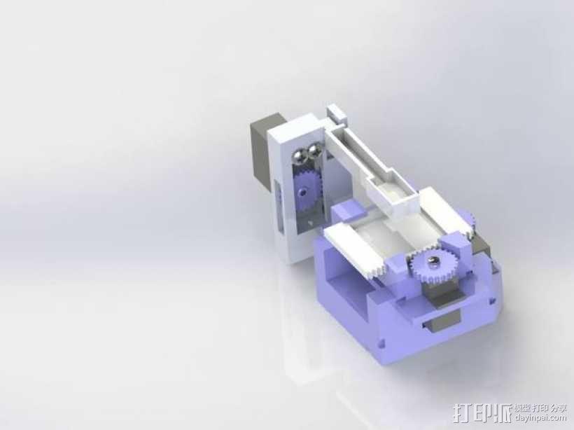 打印机XYZ轴打印床 3D模型  图1