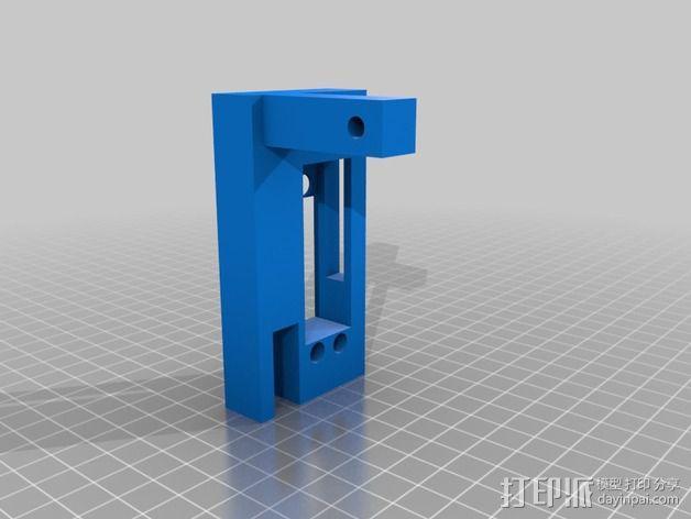 打印机XYZ轴打印床 3D模型  图2