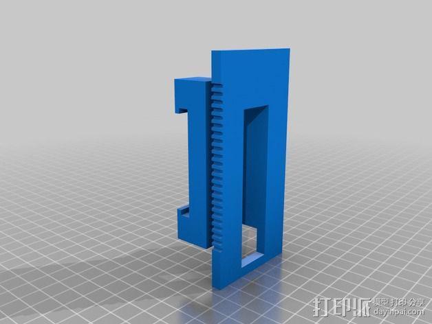 打印机XYZ轴打印床 3D模型  图12