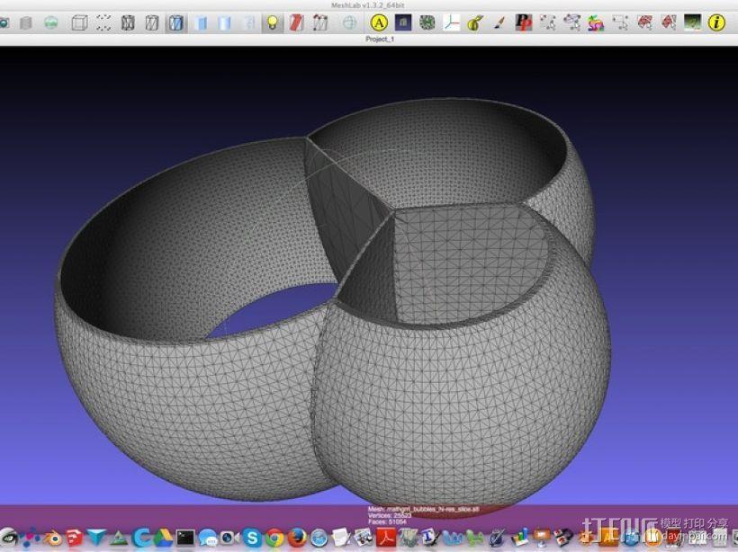 交叉的泡泡 模型 3D模型  图2