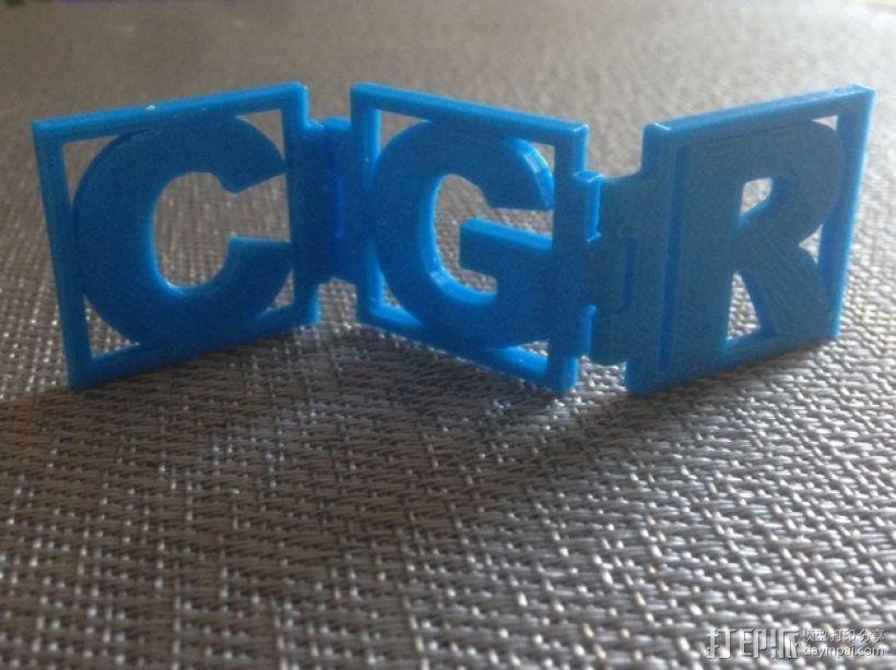 字母铰链 3D模型  图1