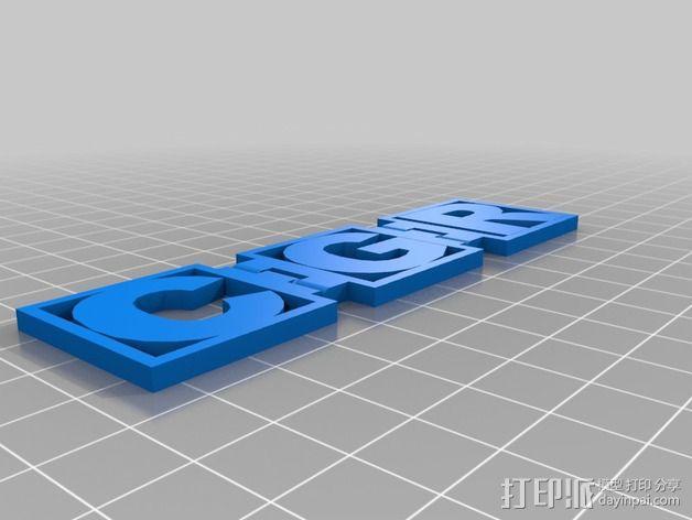 字母铰链 3D模型  图3