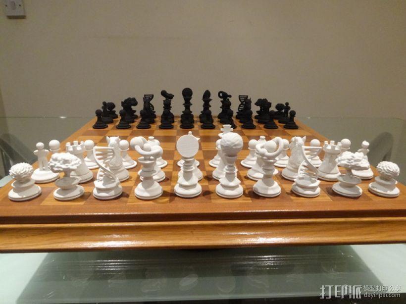 Sim象棋 3D模型  图1
