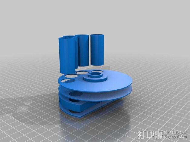 药丸自动分配器 3D模型  图2