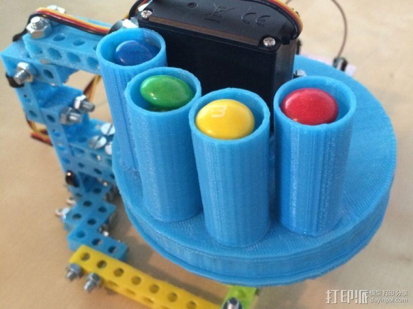 药丸自动分配器 3D模型  图1