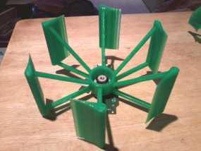 垂直轴风车 3D模型