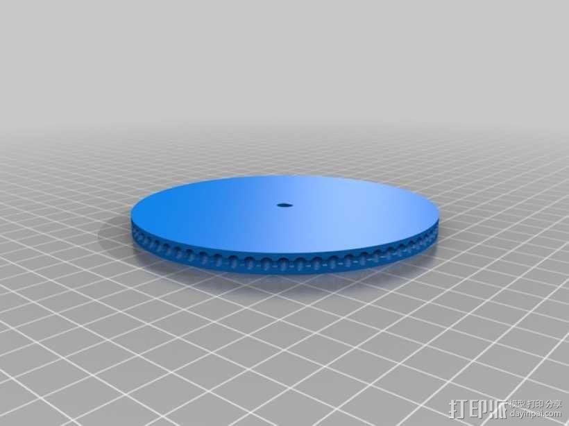 驱动皮带轮 3D模型  图2