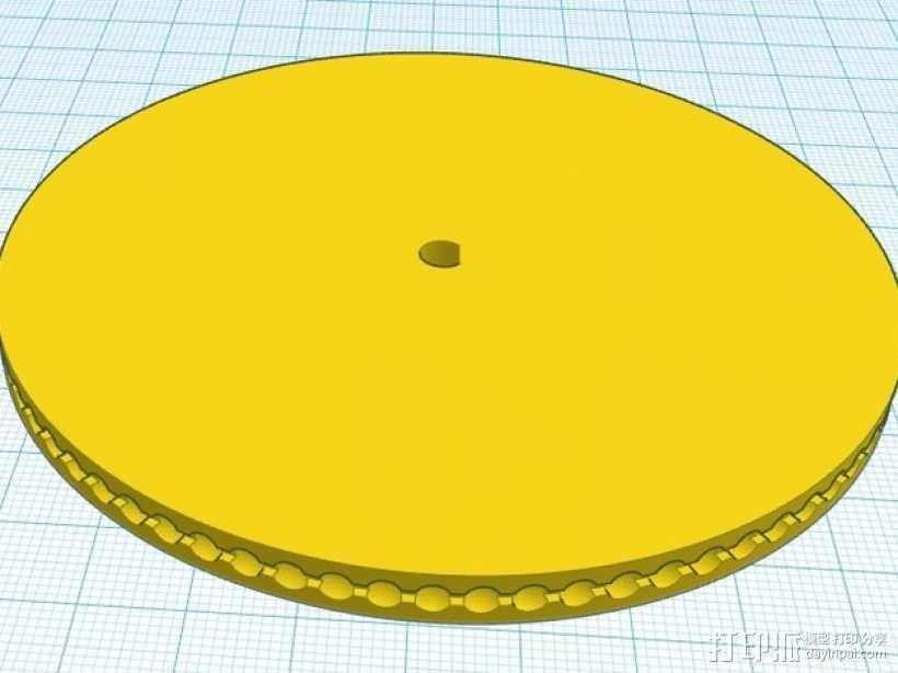 驱动皮带轮 3D模型  图6