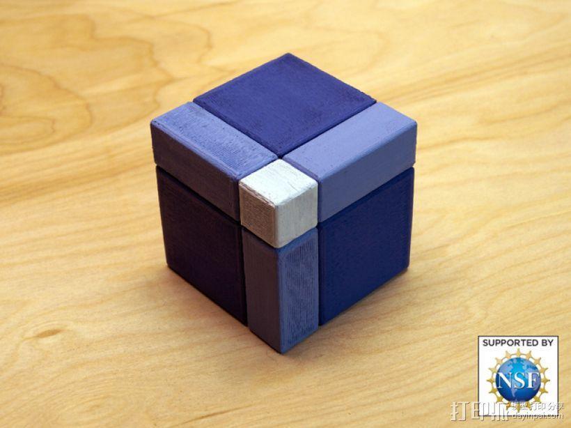 分解正方体  3D模型  图1