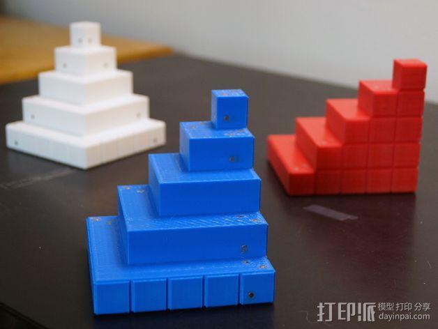 四角锥 3D模型  图4
