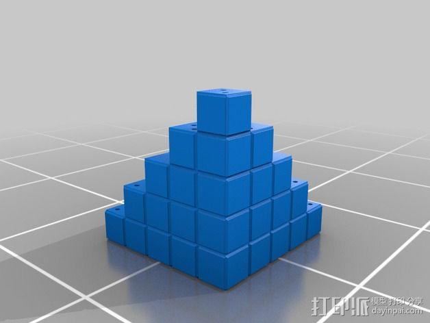 四角锥 3D模型  图7