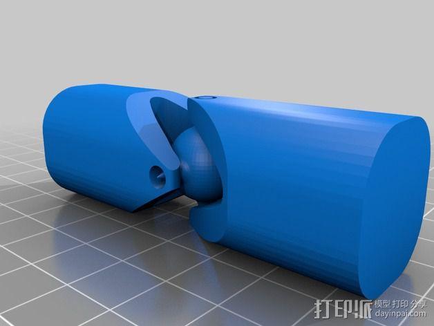 螺栓球连接器 3D模型  图2