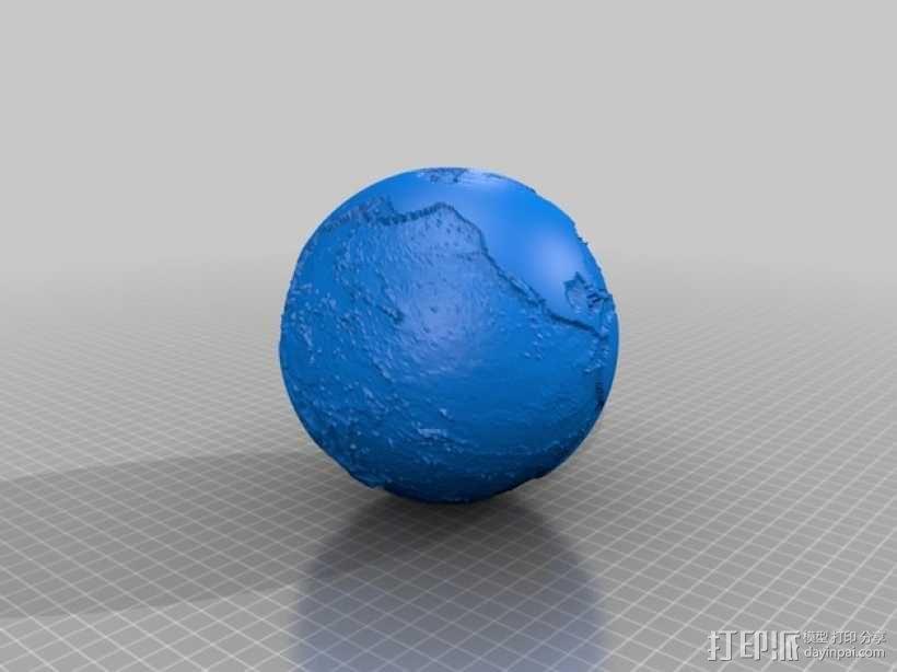 海底地图 3D模型  图2