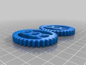椭圆形齿轮组 3D模型