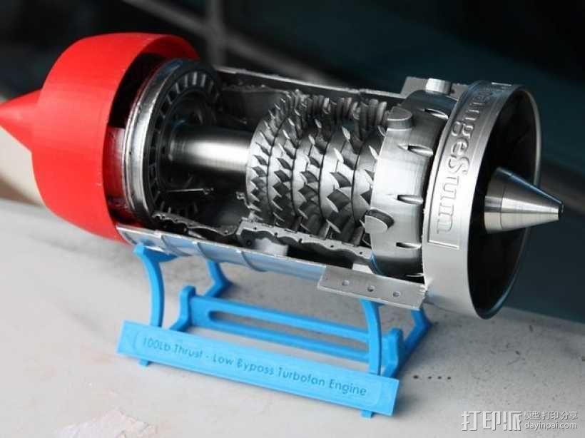 涡轮风扇发动机 3D模型  图1