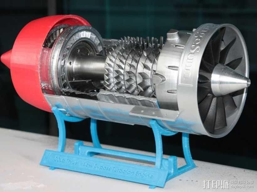 涡轮风扇发动机 3D模型  图3