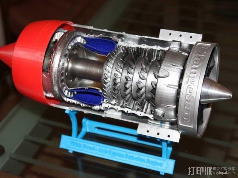 涡轮风扇发动机 3D模型  图2